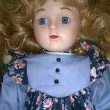 Винтажная коллекционная фарфоровая кукла антикварная Genuine Porcelain Special Edition,реплика
