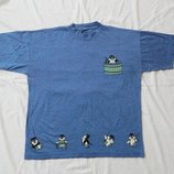 майка, р-р M-L, кофта, футболка, тениска с пингвинами