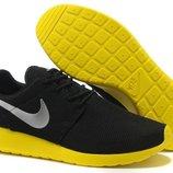 Кроссовки Nike Roshe run II - черные желтый