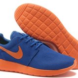 Кроссовки Nike Roshe run II - синие оранжевый