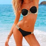 Черный купальник бандо Victoria s Secret Реплика