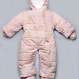 Детский зимний комбинезон розовый 03-00411-3
