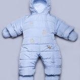 Детский зимний комбинезон голубой 03-00411-1