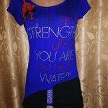 Красивая новая женская удлиненная футболка, туника