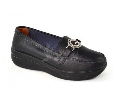 Мокасины слипоны кожаные черные «Gucci» на высокой подошве