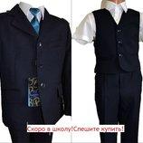 Школьная форма размеры на 6- 13 лет, Темно-Синий и черный , смотрите замеры