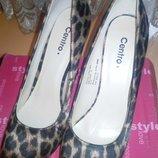 новые туфли р.38 леопард на шпильке