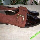 Крутые Натуральная Кожа Туфли-Лоферы handarbeit -Made IN GERMANY