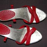 босоножки Massimo Dutti Массимо Дутти , красные, на завязках, 36