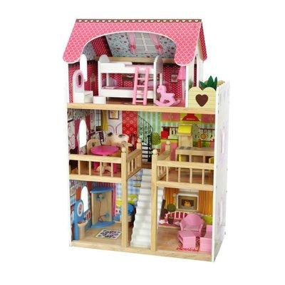Деревянный игрушечный домик