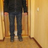 Легкая теплая х б курточка черного цвета с отделкой Next. Англия. L.