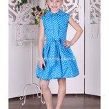 Шикарные хлопковые платья Тм Барбаррис, 128-134, 2 цвета