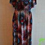 Красивое длинное платье Жар-птица