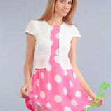 Красивое летнее платье в горошек