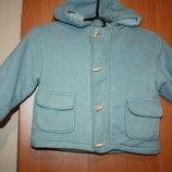 Драповое детское пальто на ребенка 2-3лет