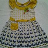 Летнее платье на девчушку 3-5 лет