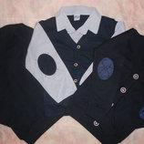 Трикотажные кардиганы, рубашки-обманки, джемпера и жилетки на мальчиков 6-14 лет