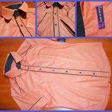 Молодежная приталенная рубашка с коротким рукавом M