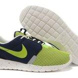 Кроссовки Nike Roshe run II - салатово-синие