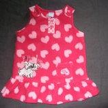 флисовое платье-сарафан на 3-6 месяцев