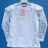Нарядная белая блузка для школы и детского сада