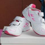 Кроссовки белые с розовым новые для девочки р. 29,32,33,34,35
