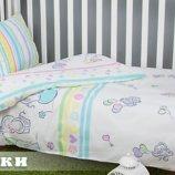 Постельное белье для новорожденных Киев, Комплект Слоники