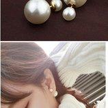 Пусеты серьги сережки Диор Dior Шарики