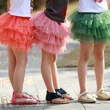 Нарядная юбка пачка на хлопк. подкладке 2-12лет 18 цветов ту-ту