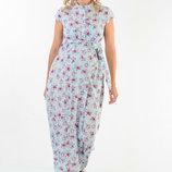 Длинное платье в пол для беременных и кормящих мам