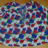 1 - 2 года рост 90 см Фирменная Рубашка блузка для модници легкая и стильная