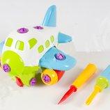 Конструктор Самолет, инструменты, в кульке