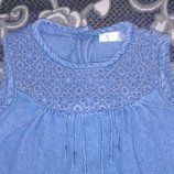 джинсовый сарафан- платье Baby на 9-12 месяцев,можно и до 2 лет