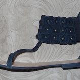 Замшевые сандалии босоножки