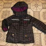 Новая осенне-зимняя куртка в цветы Тополино 70-98 см