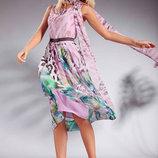 Леся Украинка Шикарный новый лузурный комплект платье и шарф накидка р. 42
