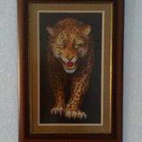 Вышивка-Оберег Леопард