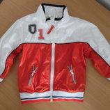 куртка спортивная костюм 92 рост белый красный ветровка балон новая H&M НМ