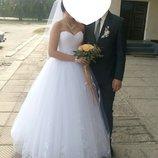 Шикарное свадебное платье 46-48 р.р.