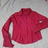 Блуза-рубашка красная в полоску, торг.