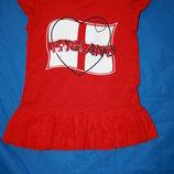 Красное элегантное платье на девочку 2-3г