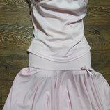 юбка топ розового цвета