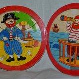 Деревянная игрушка Пазлы круглые с подложкой Пираты
