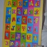 Деревянная игрушка Пазл алфавит Многофункциональная игра для развития
