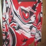 Легкая,красивая шифоновая женская кофта-блуза с водопадом Новая L 46-48.