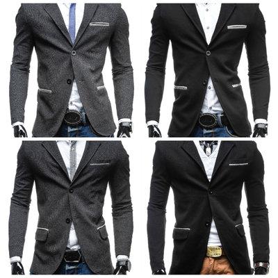черный молодежный мужской пиджак