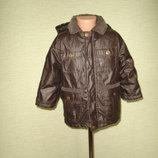 Теплая куртка на 3-4 года, еврозима, водоотталкивающпя, ветронепродуваемая