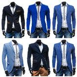 синий мужской пиджак