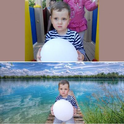 Замена фона и проч. Фотошоп услуги.