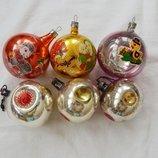 елочные игрушки, Ссср, шары, шарики, новогодние